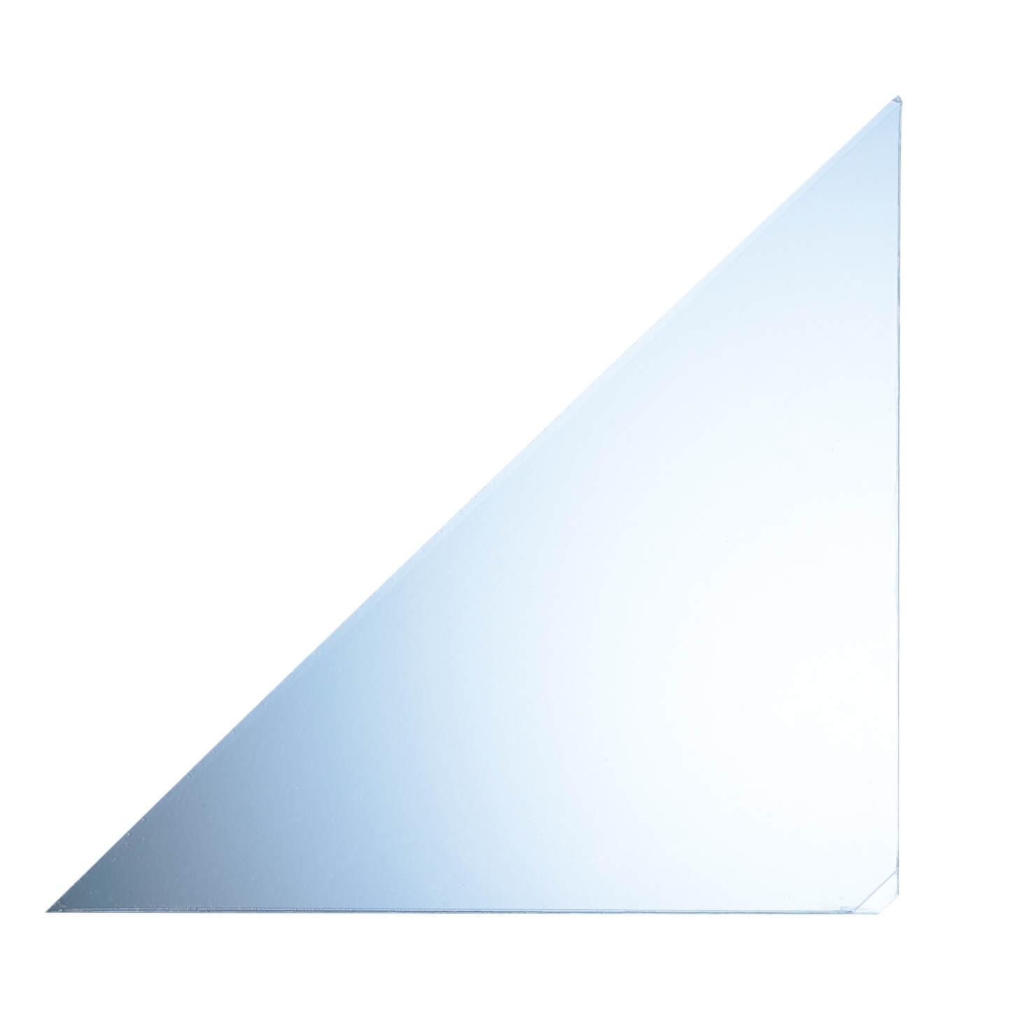 Transparente selbstklebende Dreiecktaschen 17 x 17 cm als Zusatzfach zum nachträglichen Ergänzen