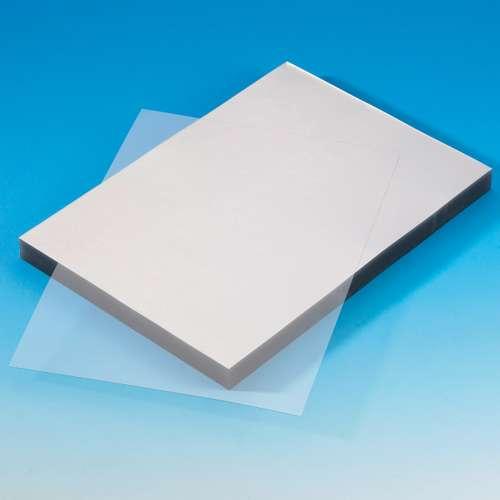 Glänzende A4 Bindefolie aus PVC klar, 0,2 mm