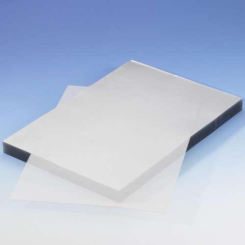 Kontakt-transparente, blendfreie Klarsichtfolie in A4 aus PVC 0.2 mm