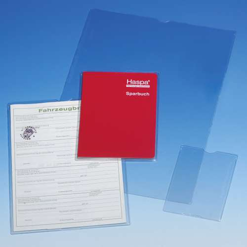 Schutz- und Ausweishüllen PP 159 x 217 mm 120µ mit Daumengriffloch
