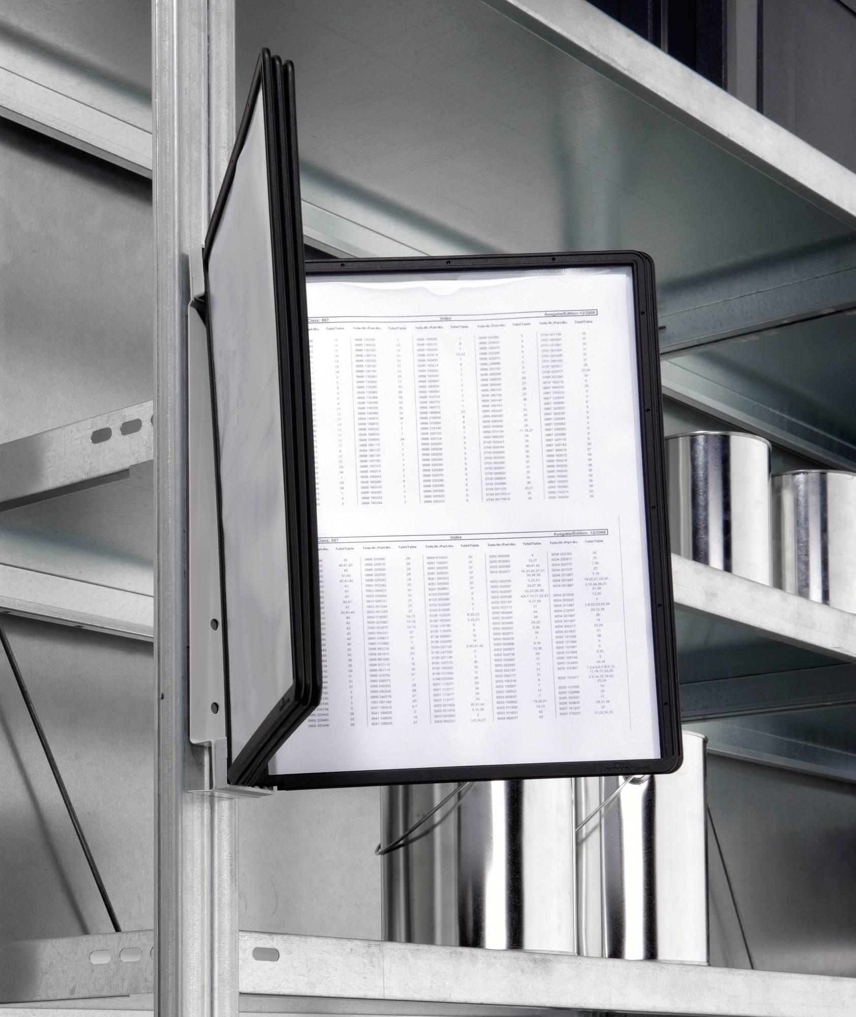 Wandbutler 'VARIO Magnet Wall 5' mit 5 Sichttafeln in Schwarz, beliebig erweiterbar