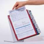 Durable Tischbutler 'VARIO TABLE' 20 mit 20 Sichttafeln, mit Bsp. Dokumenteneinlage in Sichttafel 5