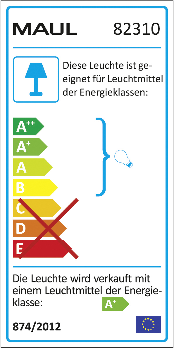 LED-Tischleuchte MAULstarlet wird verkauft mit einem geeignetem Leuchtmittel A+