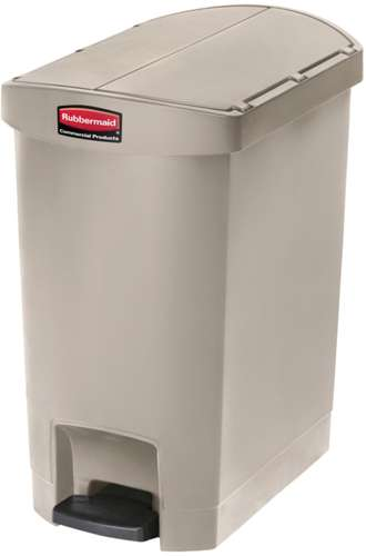 Rubbermaid Slim Jim Step On Container, End Step, 30 Liter
