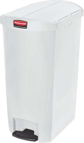 Rubbermaid Slim Jim Step On Container, End Step, 68 Liter