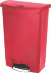 Rubbermaid Slim Jim Step On Container, Front Step mit 90 Liter Füllmenge in Rot  1