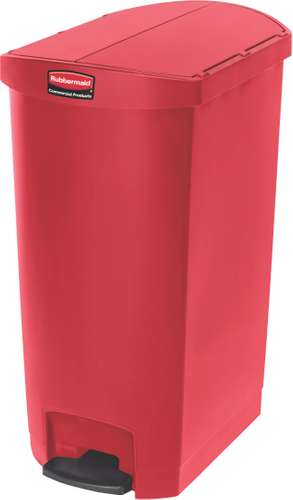 Rubbermaid Slim Jim Step On Container, End Step mit 68 Liter Füllmenge in Rot