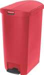 Rubbermaid Slim Jim Step On Container, End Step mit 68 Liter Füllmenge in Rot  1
