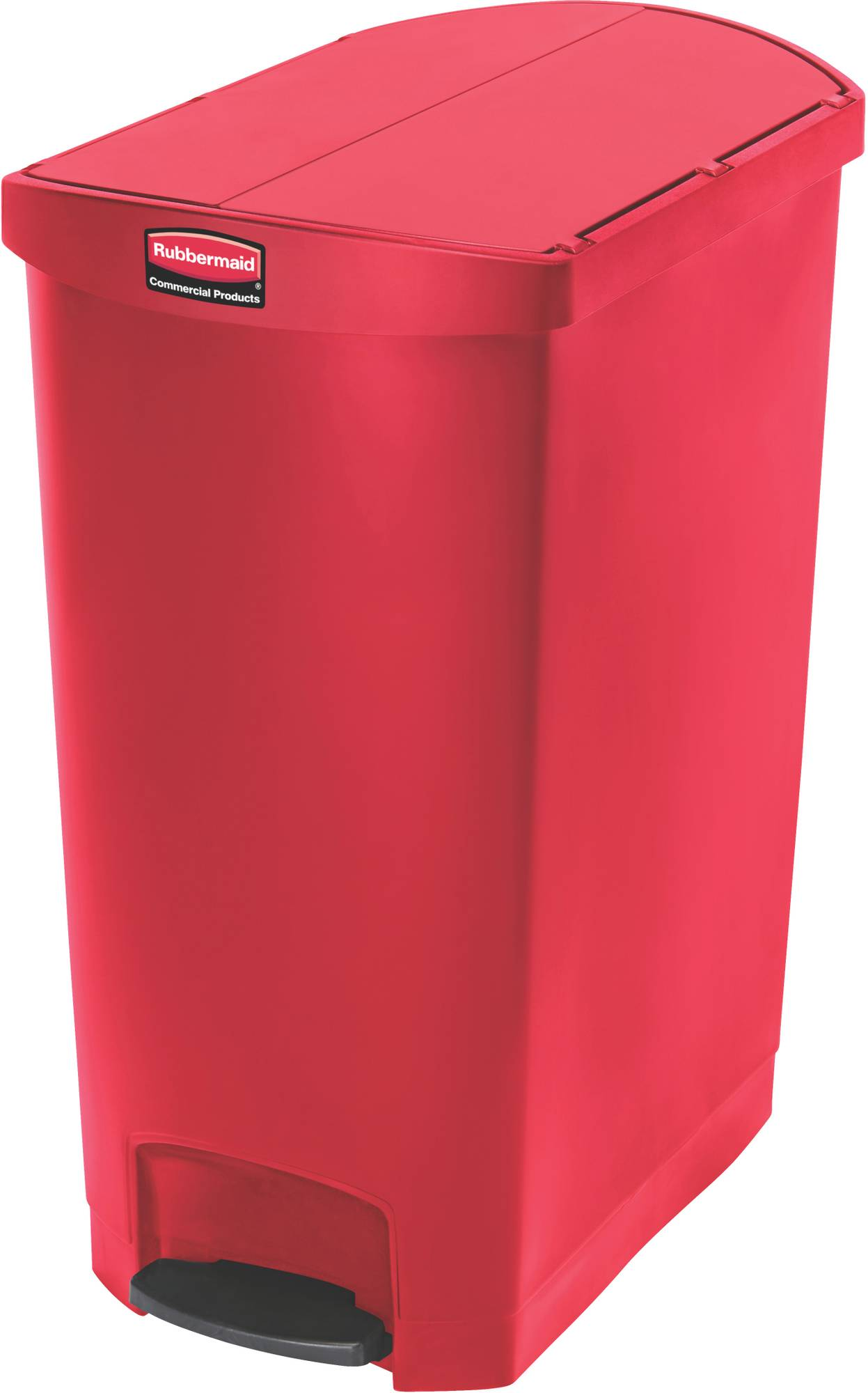 Rubbermaid Slim Jim Step On Container, End Step mit 90 Liter Füllmenge in Rot