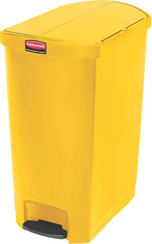 Rubbermaid Slim Jim Step On Container, End Step, 90 Liter