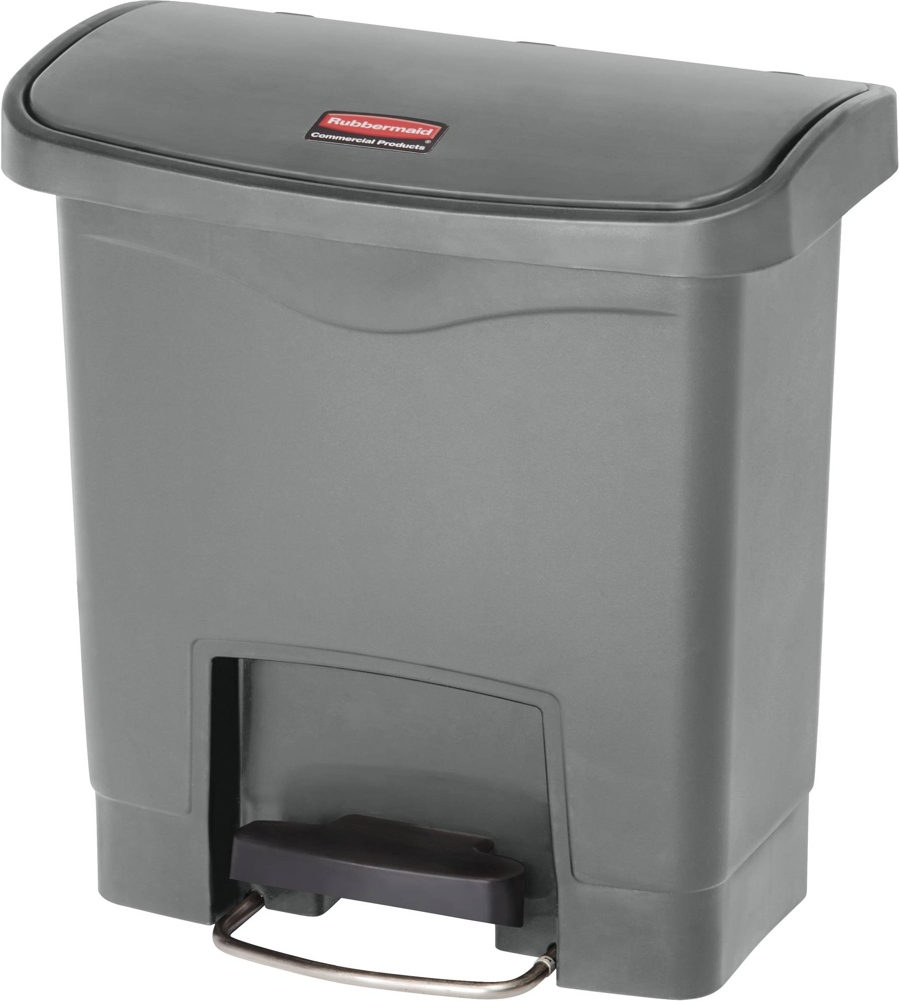 Rubbermaid Slim Jim Step On Container, Front Step mit 15 Liter Füllmenge in Grau