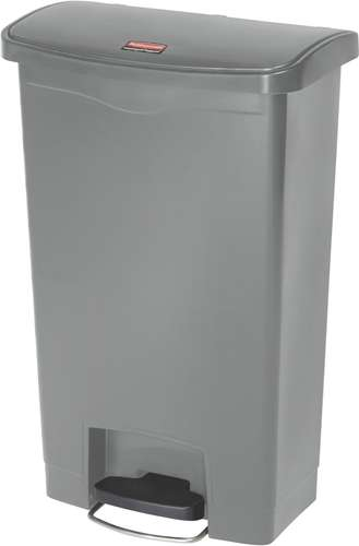 Rubbermaid Slim Jim Step On Container, Front Step, 50 Liter