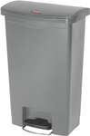 Rubbermaid Slim Jim Step On Container, Front Step mit 50 Liter Füllmenge in Grau  1