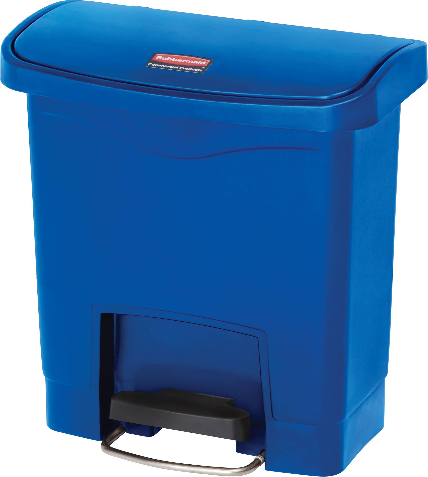 Rubbermaid Slim Jim Step On Container, Front Step mit 15 Liter Füllmenge in Blau