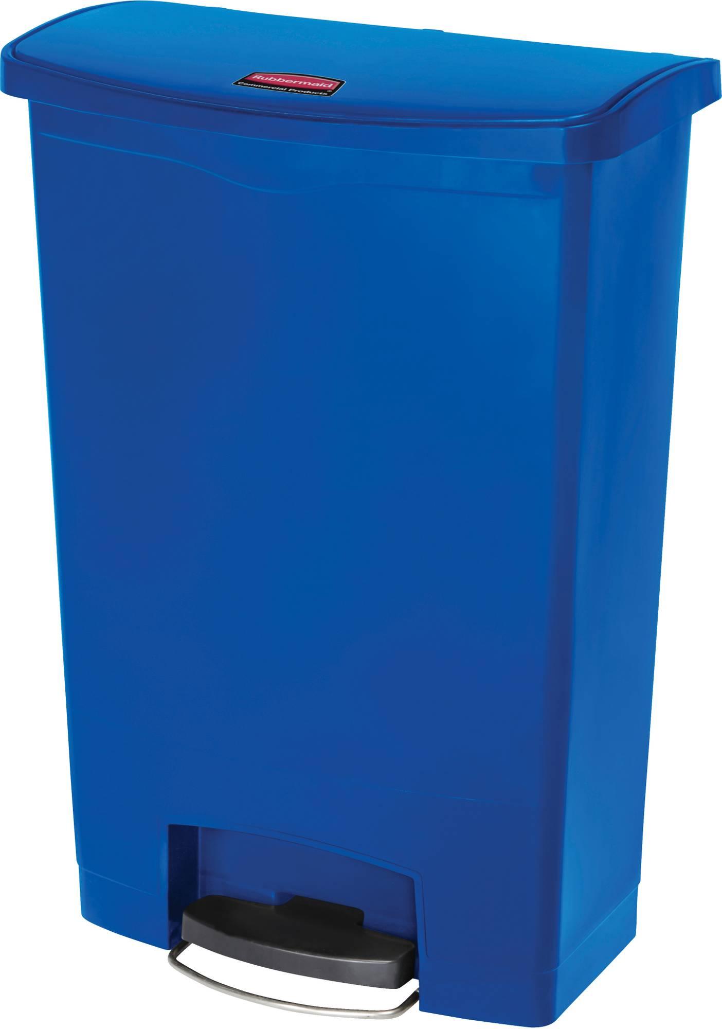 Rubbermaid Slim Jim Step On Container, Front Step mit 90 Liter Füllmenge in Blau