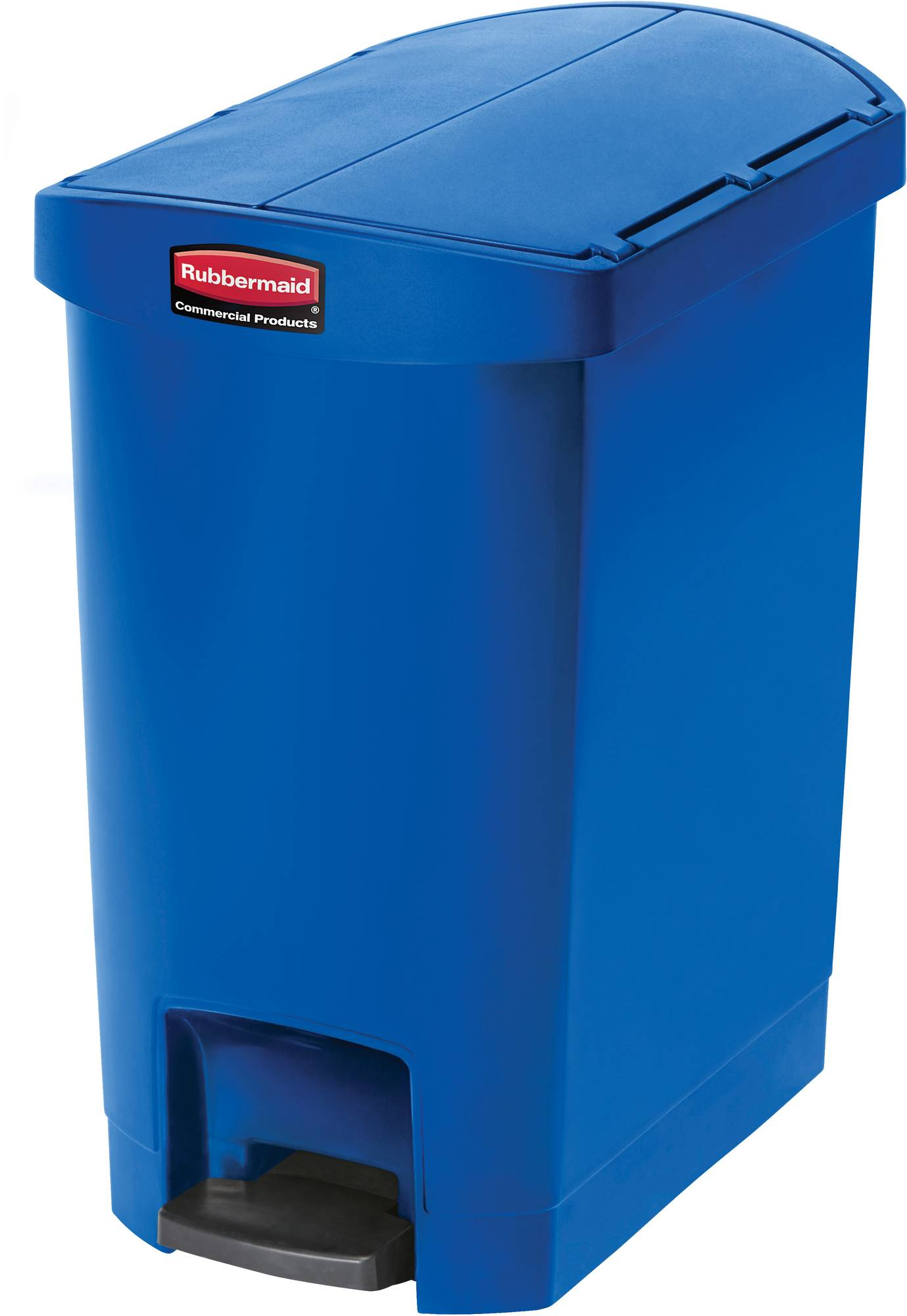 Rubbermaid Slim Jim Step On Container, End Step mit 30 Liter Füllmenge in Blau