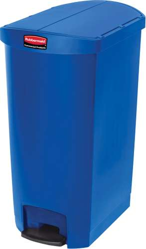 Rubbermaid Slim Jim Step On Container, End Step mit 68 Liter Füllmenge in Blau