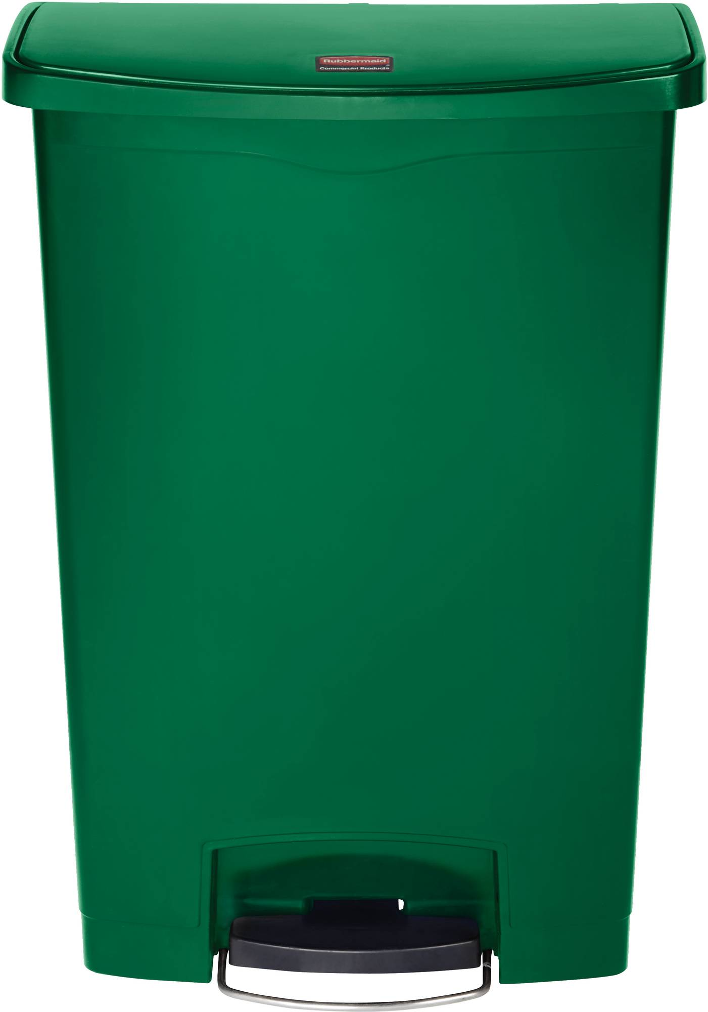 Grüner Rubbermaid Slim Jim Step On Container, Front Step, 90 l mit praktischem Fußpedal, vorn