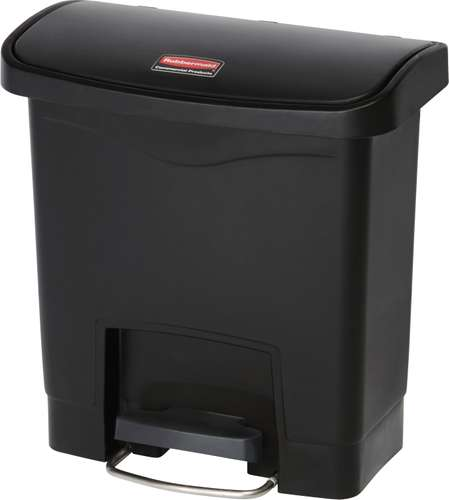 Rubbermaid Slim Jim Step On Container, Front Step, 15 Liter