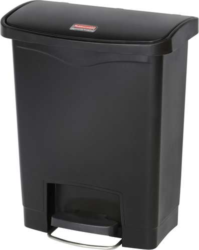 Rubbermaid Slim Jim Step On Container, Front Step, 30 Liter