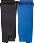 Recycling Inneneimer Rubbermaid Front Step aus Kunststoff in blau/schwarz  2