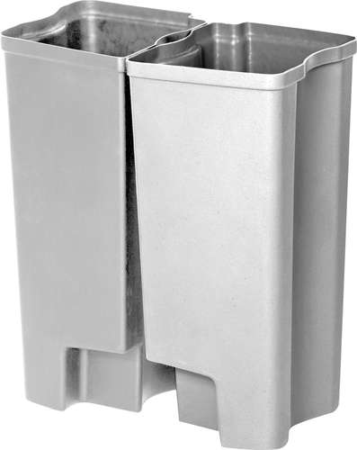 Recycling Inneneimer Rubbermaid End Step Edelstahl, 2 x 25 Liter