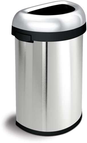Abfallbehälter 'Open Top', halbrunde Öffnung 60 Liter