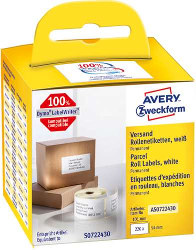 Avery Zweckform Adress-Rollenetiketten, AS0722430, 101 x 54 mm