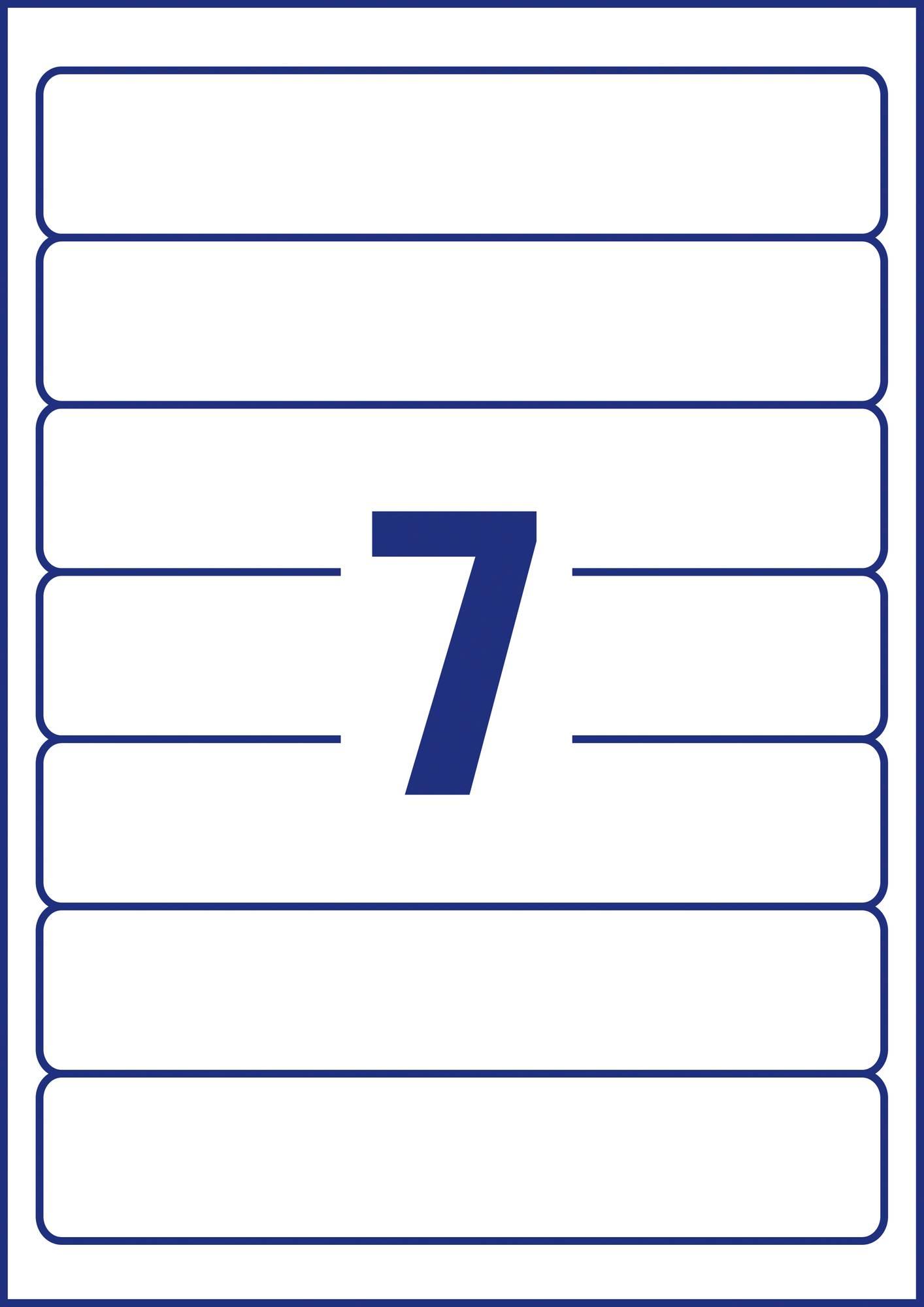 Naturweiße Avery Zweckform LR4760-25 Ordneretiketten, 192 x 38 mm, 7 Etiketten pro Blatt