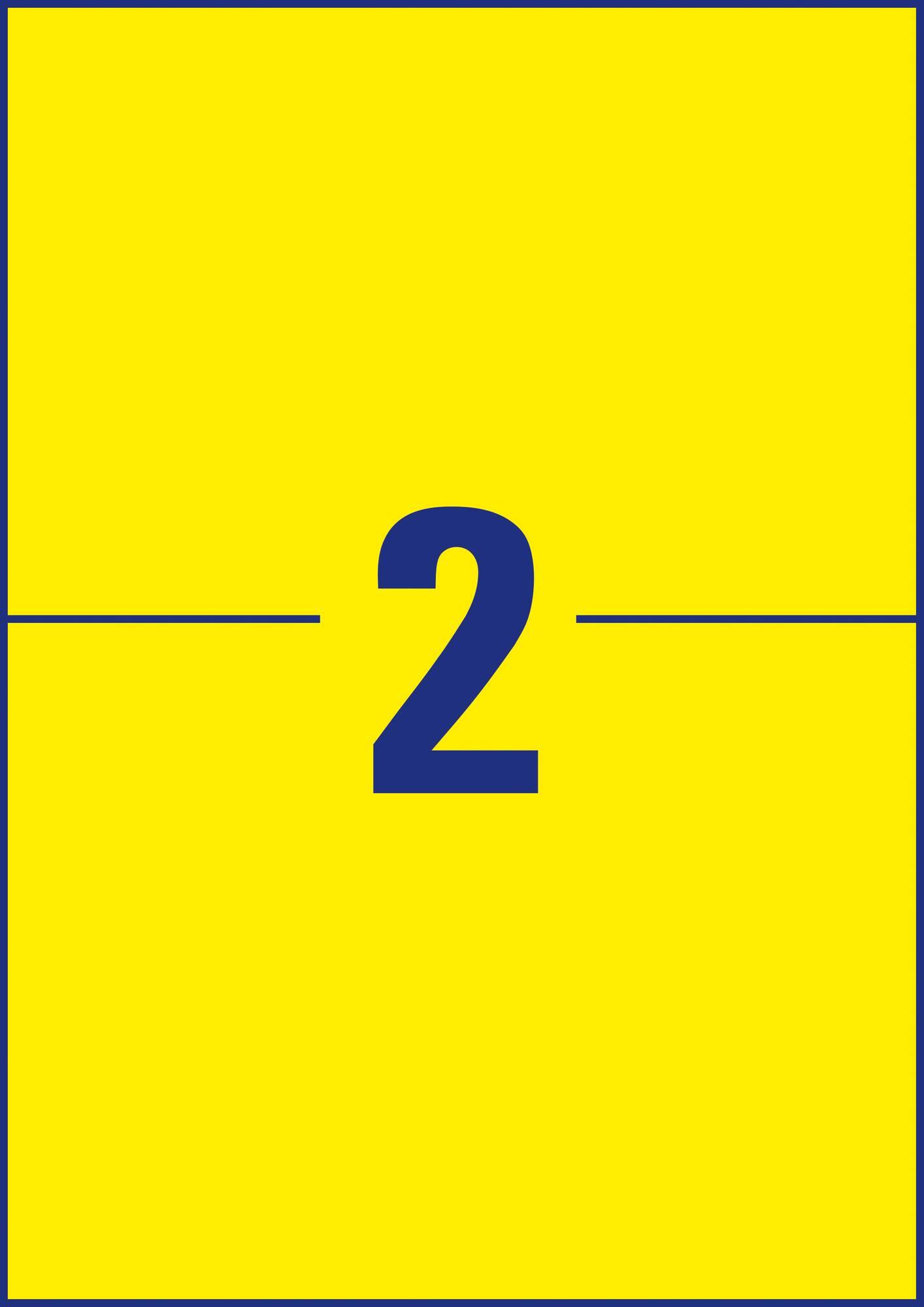 Etikettenbogen Avery Zweckform L6130-20 wetterfeste Etiketten für 2 Etiketten in gelb