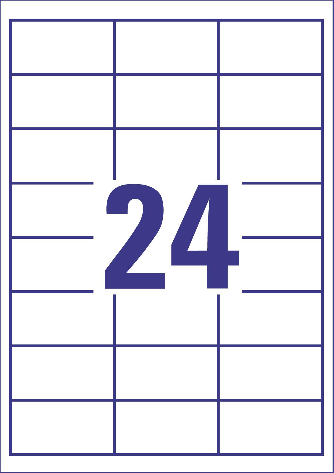 Etikettenbogen Avery Zweckform 6172 Universal-Etiketten für 24 Etiketten in weiß