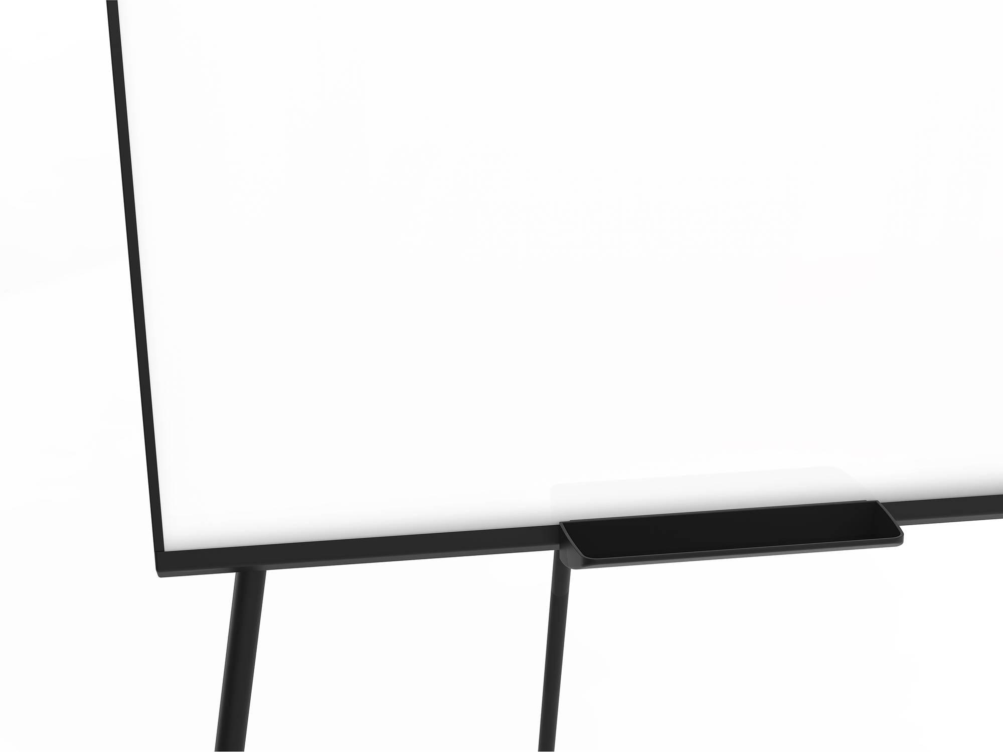 Detailansicht Flipchart ECONOMY Triangle mit praktischer Ablageschale in der Mitte der Tafel