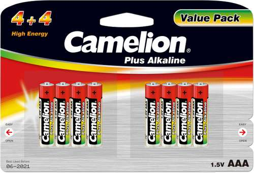 Camelion Plus Alkaline LR03-BP8 Micro(4+4)AAA 1,5V