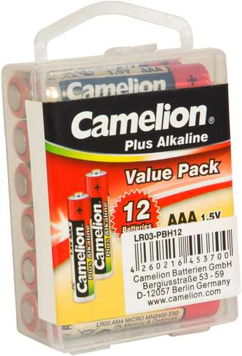 Camelion Plus Alkaline LR03-PBH12 Micro AAA 1,5V