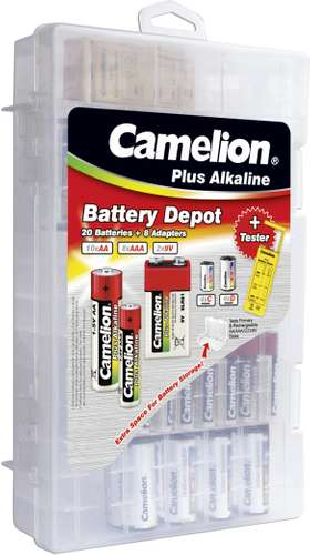 Verpackungsansicht Camelion Plus Alkaline CM-FA-01 Familienbox mit 29 Teilen