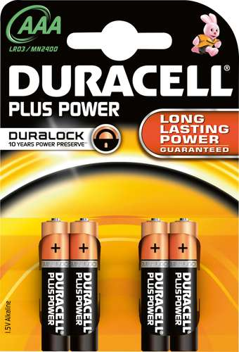 Duracell Plus Power Micro AAA / LR03, 1,5 V