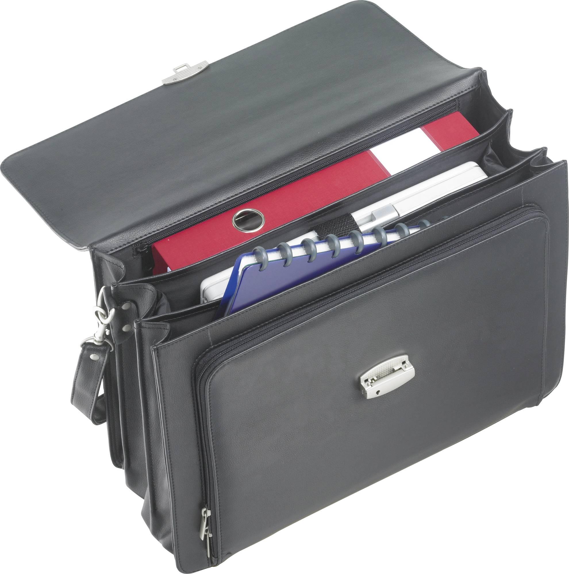 Innenraum Business-Tasche Bibione II Leder in schwarz mit praktischer Fachaufteilung