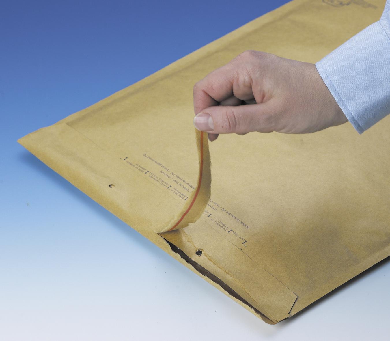 Braune Luftpolster-Versandtasche in C6 mit Aufreißperforation