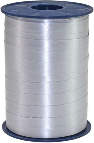 Kringel-Geschenkband, silber, 10 mm x 250 m
