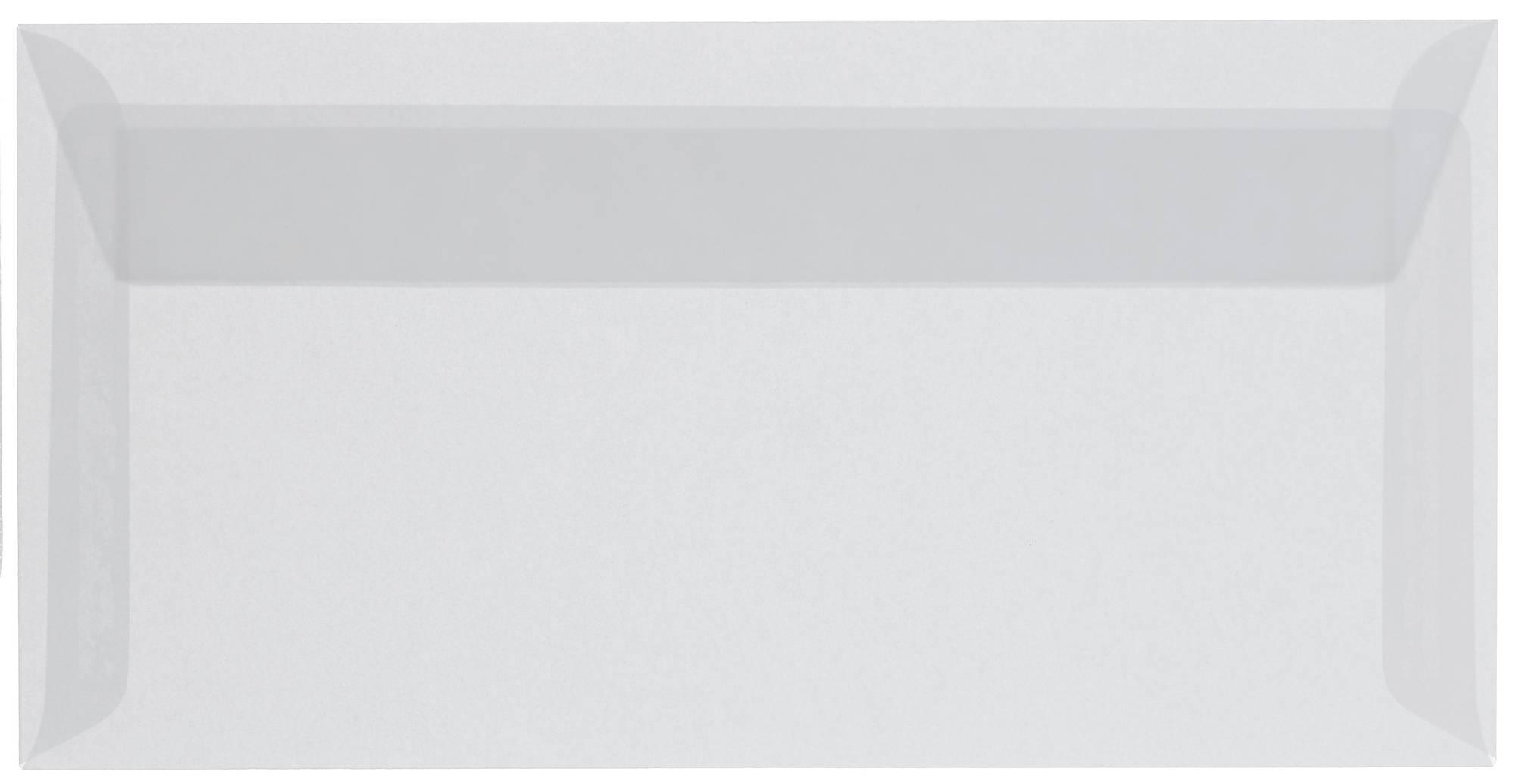 Transparenter Briefumschlag ohne Fenster in DIN lang