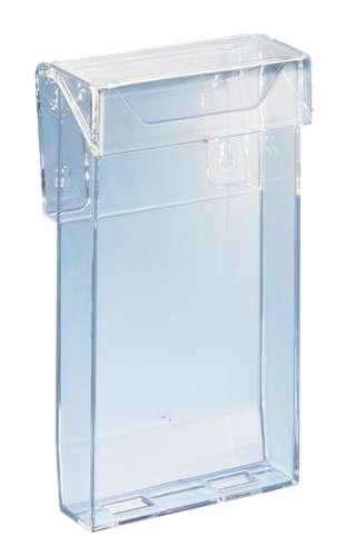 Acryl-Prospektbox mit Deckel, DIN lang