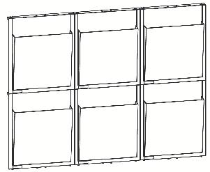 Glasklarer Wand-Prospekthalter 'Placativ' für 6 x A4 aus stabilem SAN Styrol-Acrylnitril