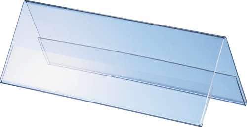 Transparente Acryl Dachaufsteller, 2 x 1/2 A4, im Querformat
