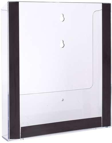 Wand-Prospekthalter, 3 Magnetstreifen, A4