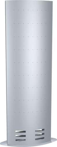 Infosäule ec-art XXL in Alu-Silber, 185 x 77 cm