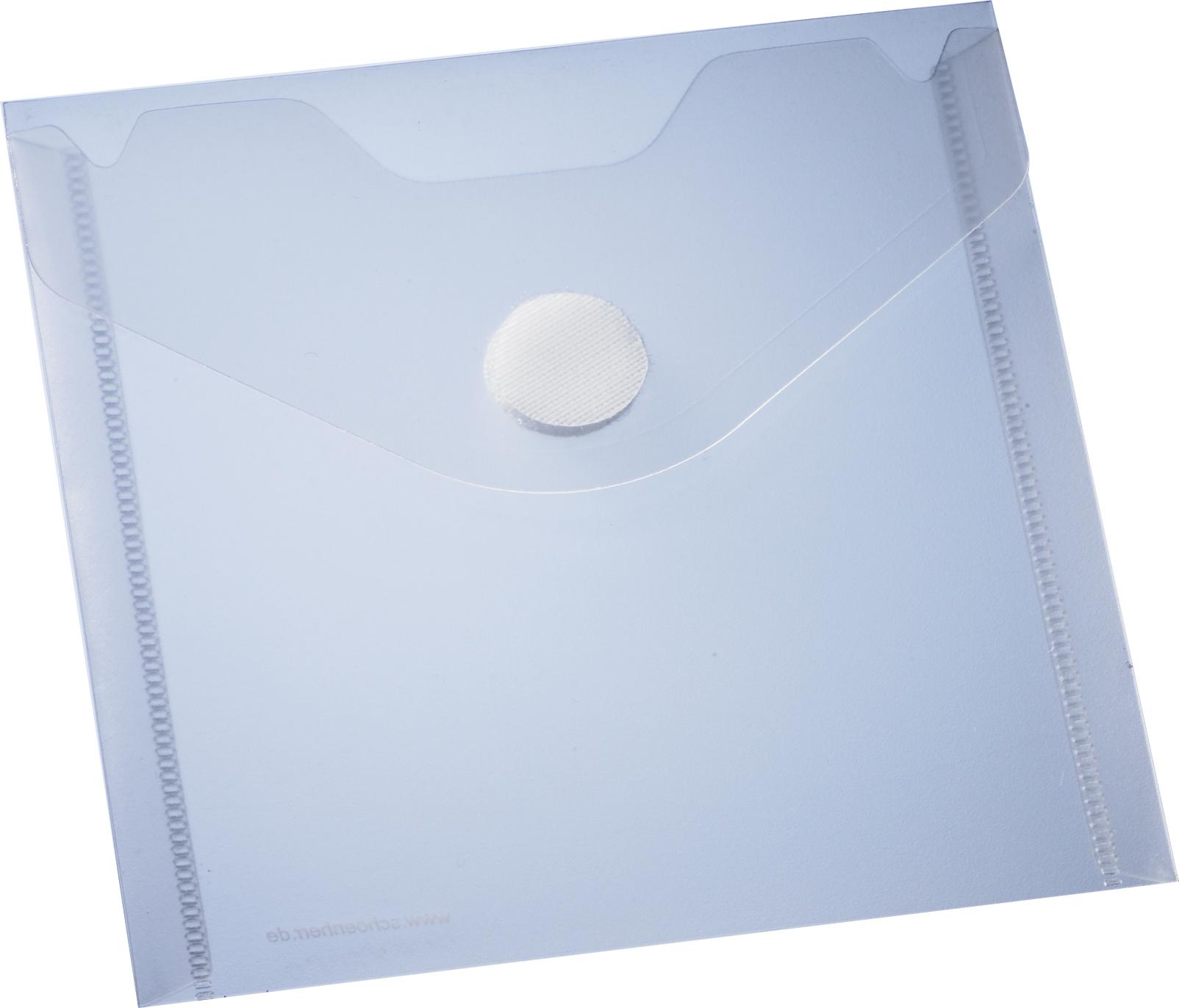 10 selbstklebende matt-transparente CD/DVD-Schutzhüllen mit Klettverschluss