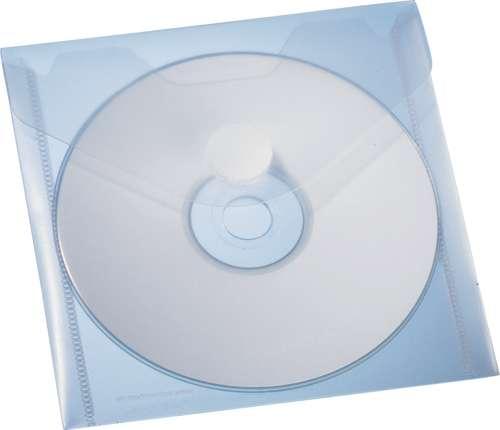 Selbstklebende CD/DVD-Hülle mit Klettverschluss