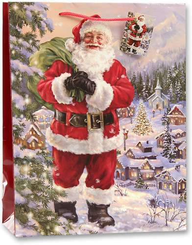 Geschenktasche 'Weihnachtsmann' Maxi, 25 x 34,5 x 8,5 cm