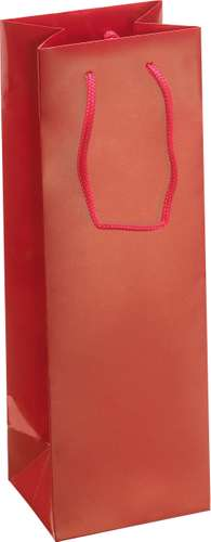 Rote Champagner-Tasche, 12 x 36 x 10 cm