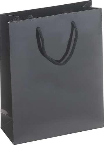 Schwarze Geschenktasche, Midi II, 26 x 36 x 10 cm